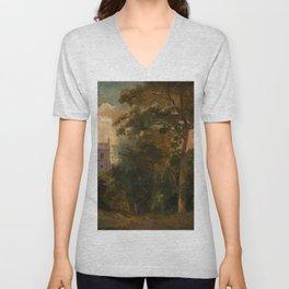 "John Constable ""A Church in the Trees"" Unisex V-Neck"