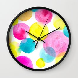 Confetti paint Wall Clock