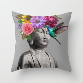 Sidarta silver Throw Pillow