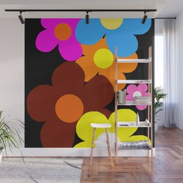 Colorful Flower Power Wall Mural