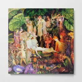 The Fairy's Woodland Funeral by John Anster Fitzgerald Metal Print