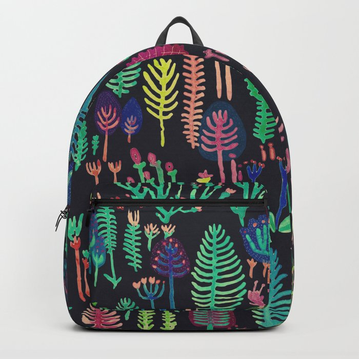 color forest in the dark Backpack