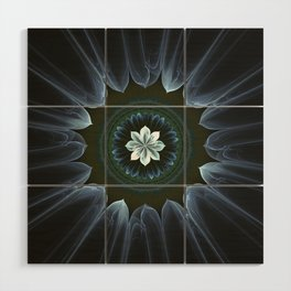 Blossom Within in White Wood Wall Art