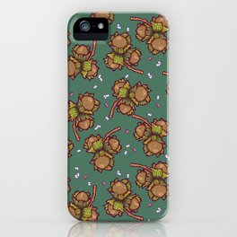Crunchy nuts pattern iPhone Case