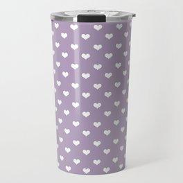 Lavender 2 hearts Travel Mug