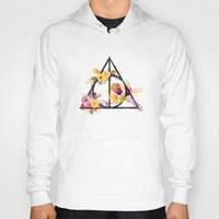 deathly hallows Hoodies featuring Life and Deathly Hallows by Snazzy Sisters