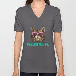 Moewmi (Miami) Florida Unisex V-Neck