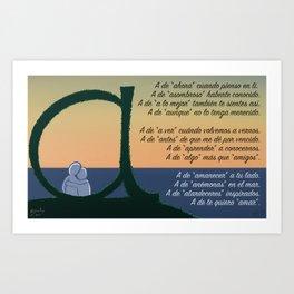 A de Amar Art Print