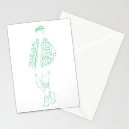 Boy Greeny Stationery Cards