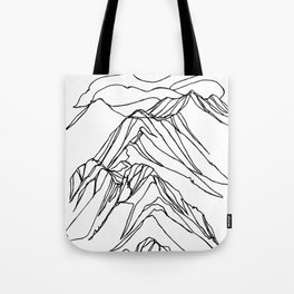 Ymir Mountain Ridges :: Single Line Tote Bag