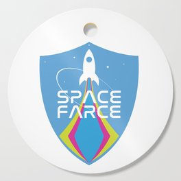 Space Force Space Farce Logo graphic parody Cutting Board