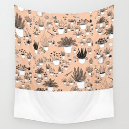 Potted plants Wall Tapestry