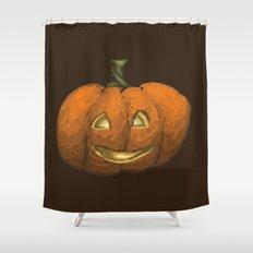 2016 Halloween Pumpkin Shower Curtain