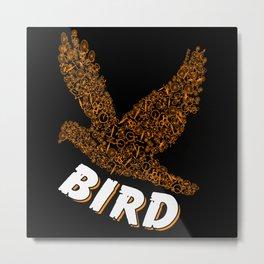 Bird From Many Bicycles Bike Animal Metal Print