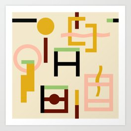 GEOMETRY COLOURFUL Art Print