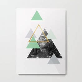 Triple Forest Gold Metal Print