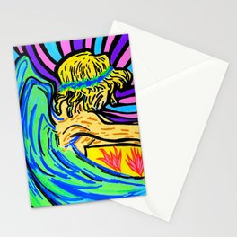 Angel surfer Stationery Cards
