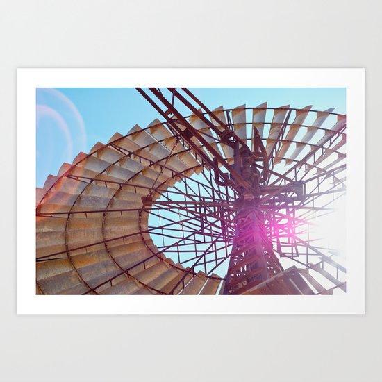 Windmill Flare Art Print