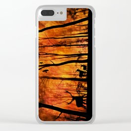 Forest fire Clear iPhone Case
