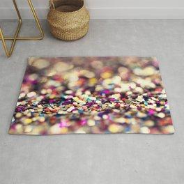 Rainbow Sprinkles - an abstract photograph Rug