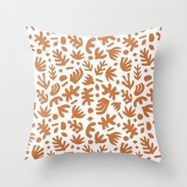 Matisse Paper Cuts // Terracotta Throw Pillow