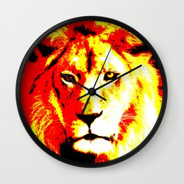 Abstract Lion Wall Clock