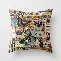 safari Throw Pillows featuring Safari by Katy Hirschfeld