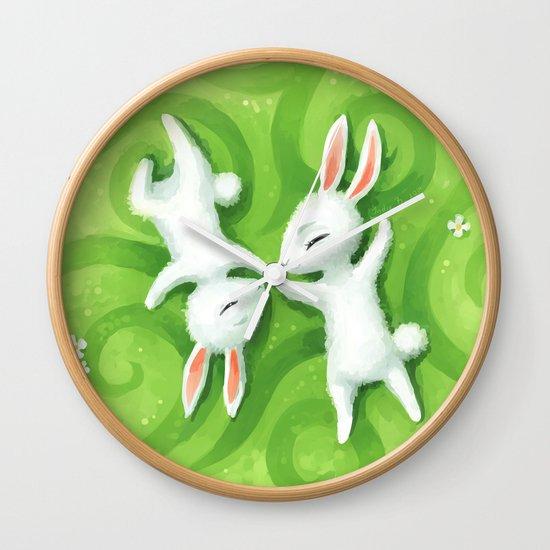 Fluffy Summer Wall Clock
