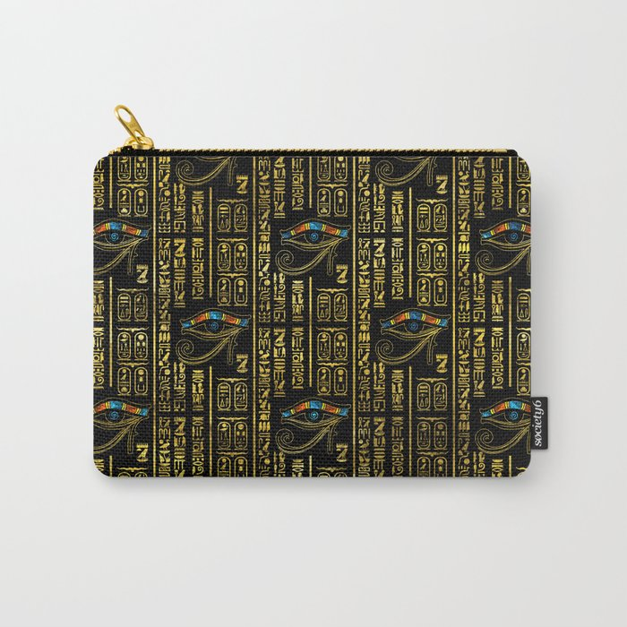 Eye of Horus and Egyptian hieroglyphs pattern Carry-All Pouch