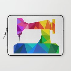 Geometric Sewing Machine Laptop Sleeve