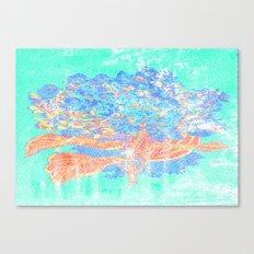 Distressed Hydrangea {green} Canvas Print