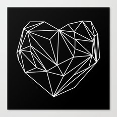 Heart Graphic (Black) Canvas Print