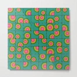 Tiled circular gradients Metal Print