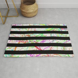 Marble, Stripes And Colour Rug