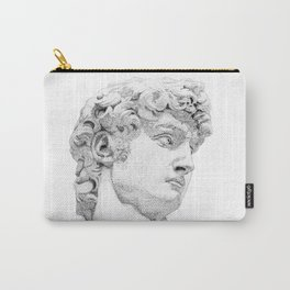 Profile of David statue by Miguel Angel Carry-All Pouch