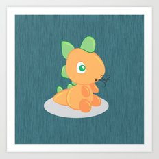 The funny dragon Art Print
