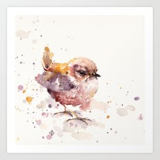 Fluffy Le Wren Art Print