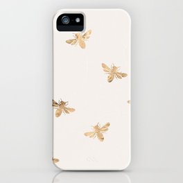 Busy Bees (Sand) iPhone Case