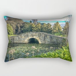 Stone Bridge and lilies. Rectangular Pillow