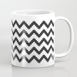 Funky chevron - black Coffee Mug
