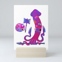 Stabby marine life Mini Art Print