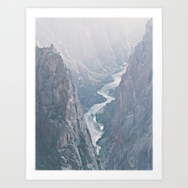 Black Canyon of the Gunnison, Colorado - Watercolor Effect Art Print