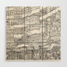 Hong Kong. Kowloon Walled City Wood Wall Art