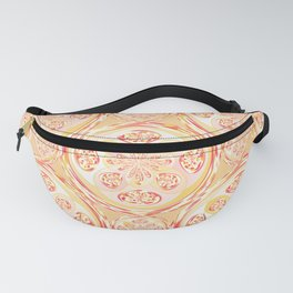 Geometric pizza pattern Fanny Pack