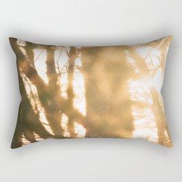 Golden Hour in the Pines Rectangular Pillow