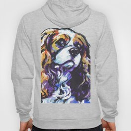 Blenheim Cavalier King Charles Spaniel Dog Portrait Pop Art painting by Lea Hoody