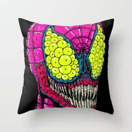 Spider Eyes Throw Pillow