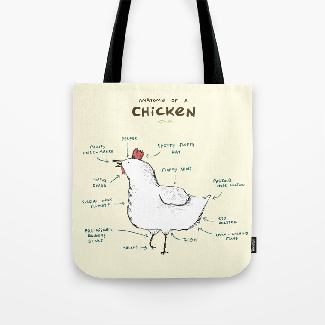 Chick Tote Bags   Society6