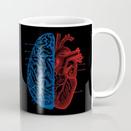 Heart and Brain Coffee Mug