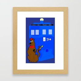 Doctor Scooby-Who Framed Art Print